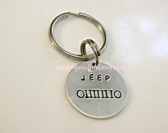 Classic JEEP Symbol, Hand Stamped Customize Key chain, Jeep lovers unite!