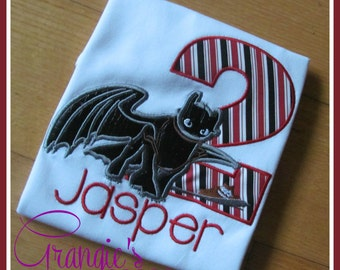 Personalized How to Train Your Dragon Birthday Shirt