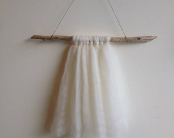 Local wool and driftwood wall hanging