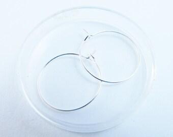 D-03123 - 4 Hoop earring setting 20mm