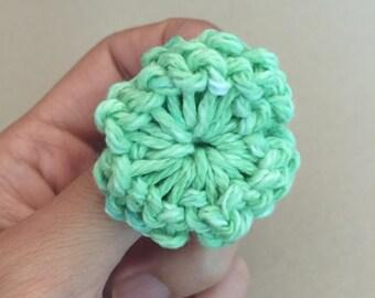 Flower Knitted Ring