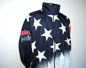 1996 U.S.A. Basketball Rare Vintage 90's Dream Team 2 American Flag Winderbreaker Jacket