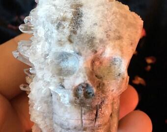 Carved Quartz Crystal Skull