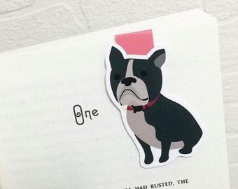 Boston Terrier Dog Magnetic Bookmark (Jumbo)