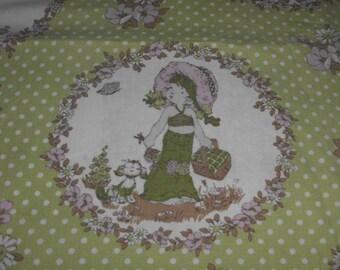 50cm Sarah Kay fabric vintage green pale pink