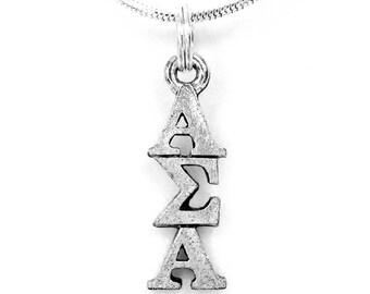 Alpha Sigma Alpha Sorority Lavalier with Chain