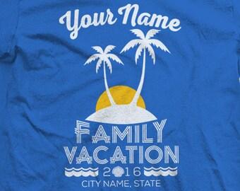 2017 Custom Family Beach Vacation Shirts