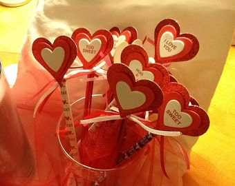 valentine pencil and topper