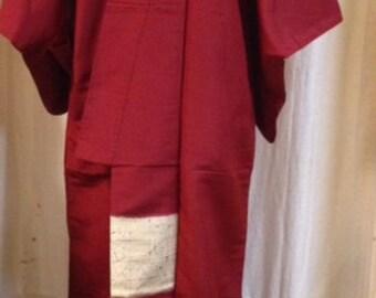 kimono red silk japanese