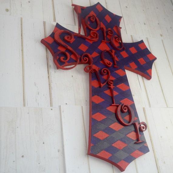Geometric Wood Cross Christian Wall Decor Decorative Cross
