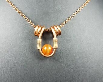 Copper Wire Wrap Pendant