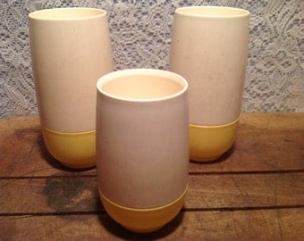 Set of 3 Vintage Plastic Tumblers