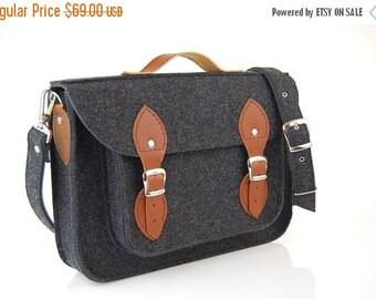 Winter Sale 40% Laptop bag 15 inch pocket, felt satchel,Macbook Pro 15 in,Custom size Laptop bag, sleeve, case, with leather straps