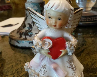 Vintage 1960's February Angel National Potteries Co S402