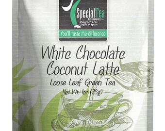 1 oz. White Chocolate Coconut Latte Loose Leaf Green Tea