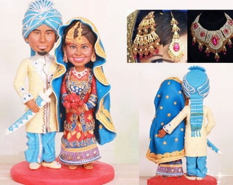 Personalised India Asian wedding topper (Free shipping)