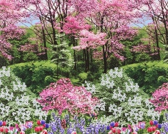 Spring Landscapes Cotton Fabric by Timeless Treasures! [Choose Your Cut Size]