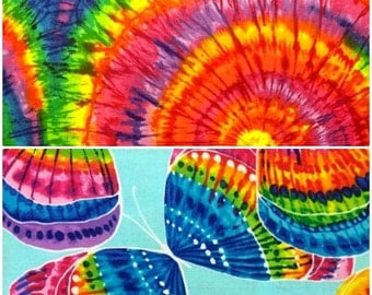 Tie Dye Hippie Cotton Fabric by Timeless Treasures! [Choose Your Cut Size]