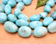 Peruvian Amazonite freeform beads/ tumblings (ETB00020)