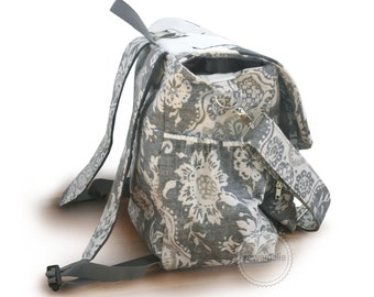 Backpack diaper bag with detachable adjustable strap, zippered diaper bag, zipper pockets, baby hiking gear