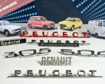 Vintage car emblem, vintage car badge, Peugeot car emblem,  Renault car emblem, Citroen car emblem | FREE SHIPPING