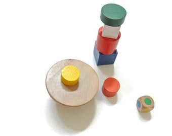 Waldorf Montessori Inspired Natural Wood Balancing Toy