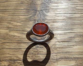 Fire opal ring 2 * Gr. 56.5 *
