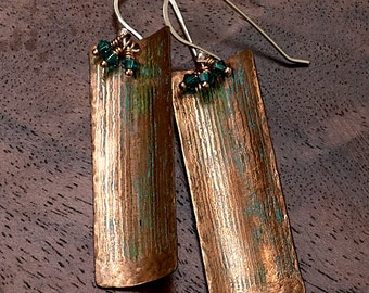 Copper Metal Etched Earrings (Chemical-free)