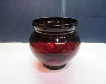 Vintage Beautiful Cranberry Glass Vase