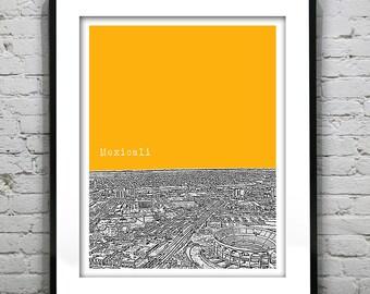 Mexicali Mexico SkylinePoster Art Print