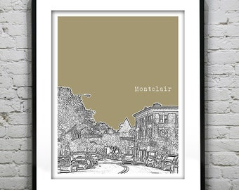 Montclair etsy holiday sale montclair new jersey skyline poster print art nj version 1 negle Gallery