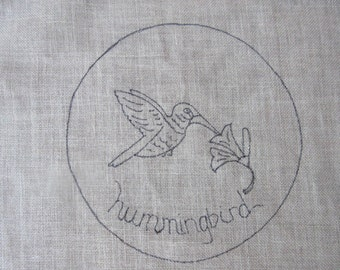 Hummingbird Rug Hooking Pattern