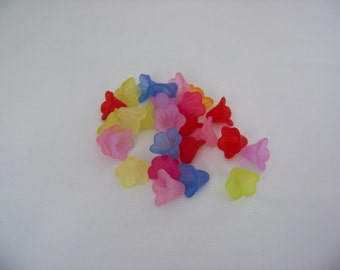 Mixed Lily Lucite Flower Beads 4487