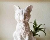 Fox planter, Fox statue, air plant holder, Fox gift, Realistic fox