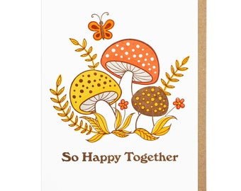 So Happy Together Letterpress Card