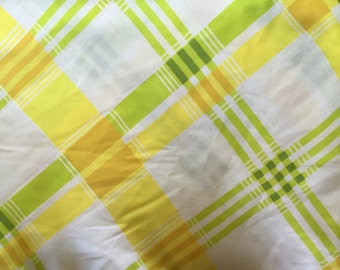 Vintage Green Yellow and White panel sheet   Full
