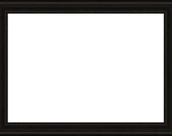 11x14 Small Beaded Lip Black Picture Frame