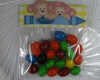 Monkey candy bag toppers, bag toppers, treat bag toppers