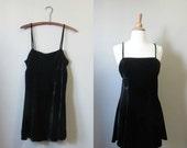 Mothers Day Sale 1990s Betsey Johnson crushed velvet mini dress • 90's grunge • size s/m Nirvana In Love