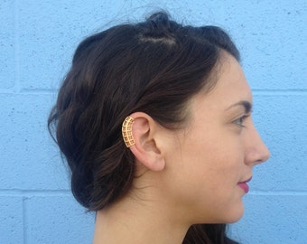 3d printed classic cage ear cuff