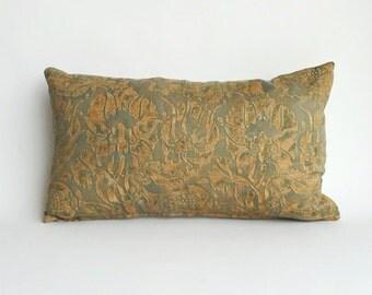 Silk Floral Kidney Pillow