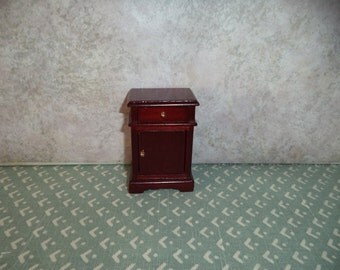 1:12 scale Dollhouse Miniature Cherry color night stand