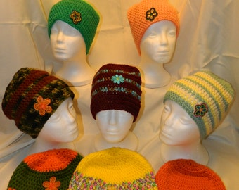 Flower Patch Hats - Crocheted - Ready to Ship