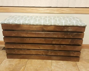 Padded Storage Crate Ottoman Xtra Long & Xtra Tall