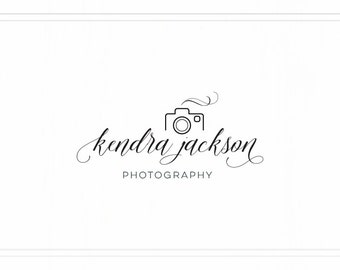 Script Logo with Camera, Camera Logo Design, Pre-made Logo, Premade Photography Watermark, Camera Watermark, Logo with Camera, L109