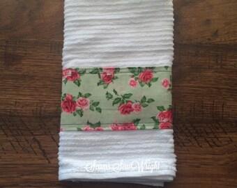 Shabby Chic Rose Garden Styled Towel