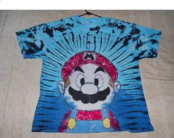 Super Mario Tie Dye T Shirt