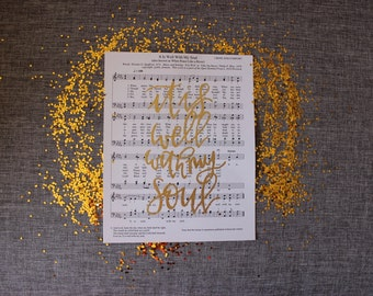 it is well with my soul | 8x10 emboss on sheet music