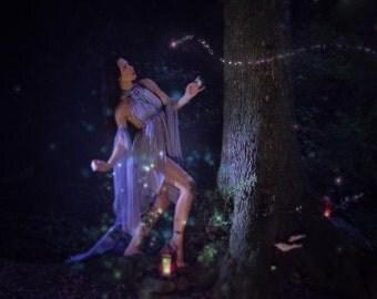 Fantasy costume bellydance goddess tunic tribal fusion priestess ritual dance wear fairy fairytale