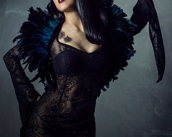 Aracné dress night party dress goth gothic dress